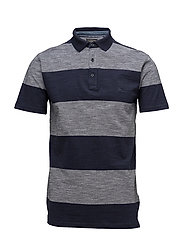 Striped polo shirt S/S - NAVY MIX