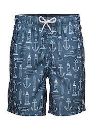 Swimshortsprinted - BLUE