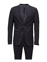 Striped mens suit - NAVY STRIP