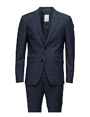 Glen checked suit - BLUE CHECK