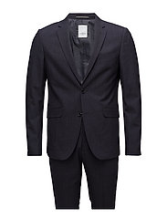 Mini checked suit - NAVY