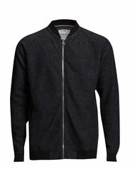 Sweat cardigan - BLACK