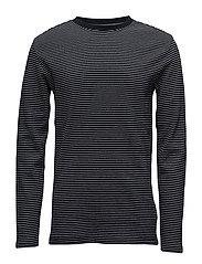 Stripedo-necksweatshirt - D NAVY/WHITE