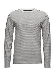 Stripedo-necksweatshirt - O WHITE/NAVY