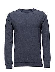 O-neck sweatshirt - BLUE MIX