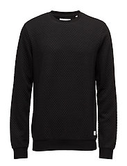 Quilted sweat - BLACK