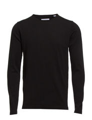 O-neck knit - BLACK