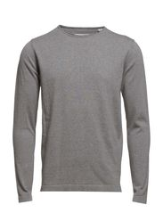 O-neck knit - GREY MEL