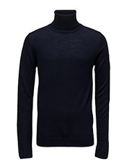 Merinoknitroll-neck - NAVY