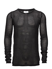 Looseknitwitho-neck - BLACK