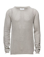 Looseknitwitho-neck - GREY MIX