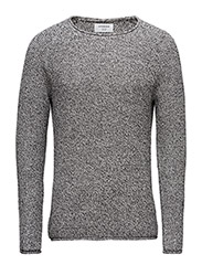 Looseraglano-neckknit - GREY TWIST