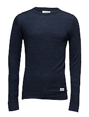 Moulinéknitwo-neck - NAVY MIX