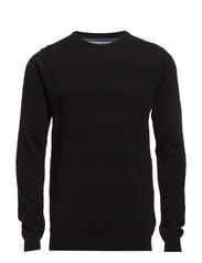 Pearl o-neck sailor knit - BLACK