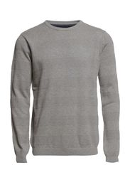 Pearl o-neck sailor knit - GREY MEL