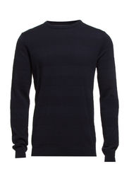 Pearl o-neck sailor knit - NAVY