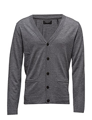Merinocardigan - MED GREY MIX