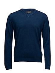 Garmentdyedmerinoknit - BLUE
