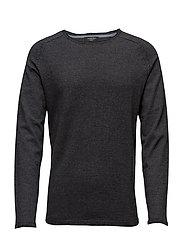 Raglan o-neck knit - GREY MIX