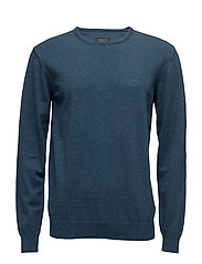 Knitwithstripeincollar - DUSTY PETROL