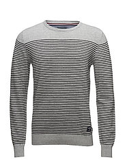 Striped knit - GREY MEL