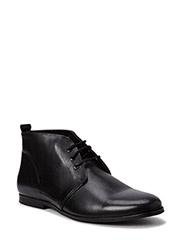 Shortleatherboot - BLACK