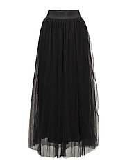 Tulle long - BLACK