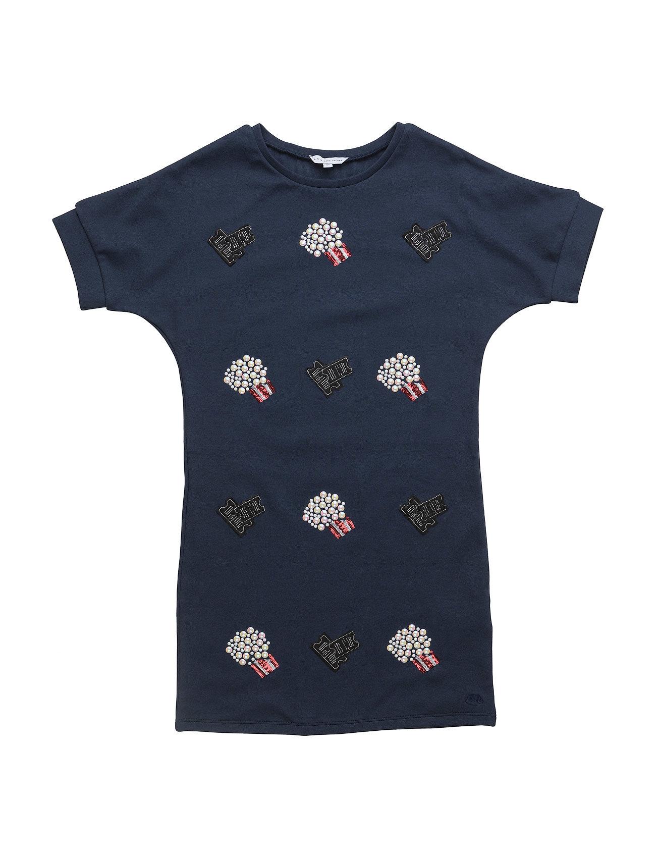 Short Sleeved Dress Little Marc Jacobs Kjoler & Nederdele til Piger i Mørk Indigo