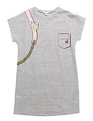 DRESS - CHINE GREY