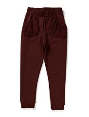 LITTLE BESSA PANT - LACE - Wine Red
