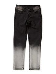 LITTLE FUNKY LEGGINGS DIPDYE/BLACK DENIM - Black