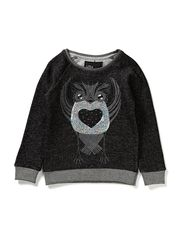 LITTLE OWL SWEAT - Dark Grey Melange