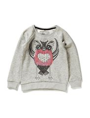 LITTLE OWL SWEAT - Light Grey Melange
