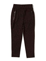 LITTLE BILLE HAREM PANTS - Wine Red
