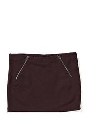 LITTLE BHARLENE ZIP SKIRT - Wine Red