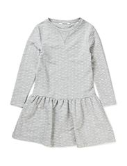 LITTLE DOTTE LS  DRESS - Light Grey Melange