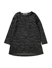 LITTLE BURN LS DRESS - Dark Grey Melange