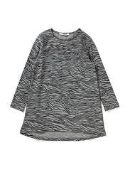 LITTLE BURN LS DRESS - Light Grey Melange