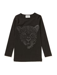 LITTLE ELLA LS TOP - TIGER - Black