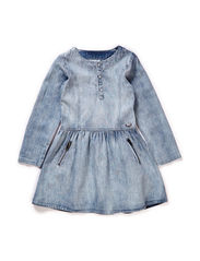 LITTLE PSINGE DENIM DRESS - Light Blue Denim