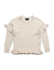 Jr Sydni Ruffle Sweater - IVORY