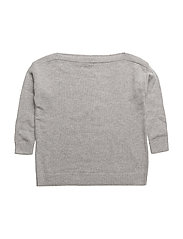 LR Sydni Off Shoulder - LIGHT GREY MELANGE