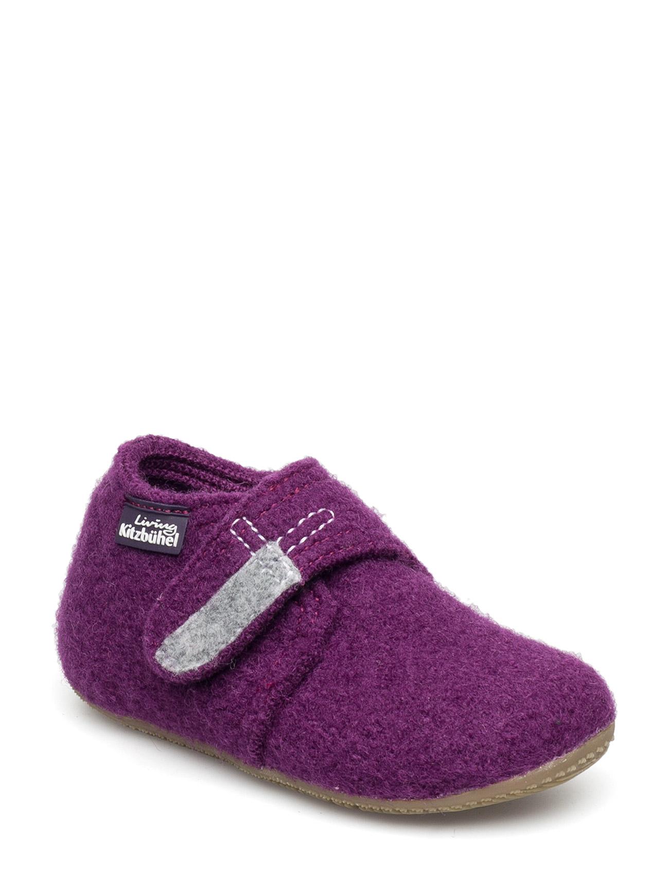 Baby Shoe With Velcro Uni Living Kitzbuhel Hjemmesko til Børn i Petunie