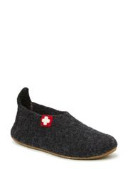 Slipper with swiss cross - anthracite
