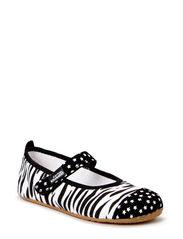 Ballerina Zebra & Stars - black-white