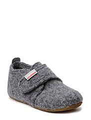 Baby shoe with velcro velourleather - GREY