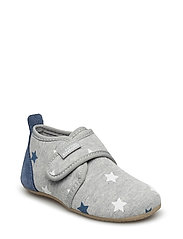 Baby shoe velcro with stars - HELLGRAU