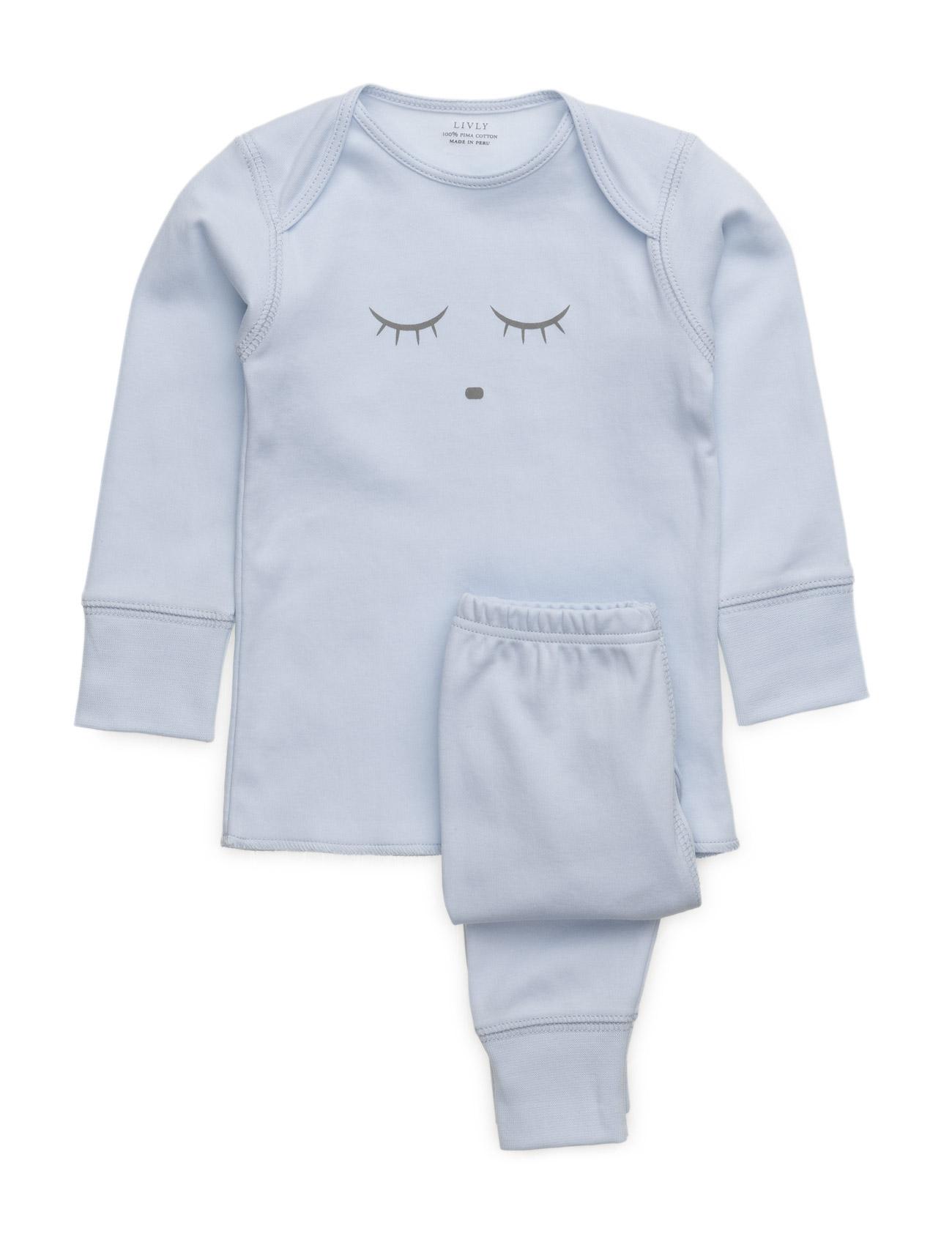 Sleeping Cutie 2 Piece Set Livly Pyjamas til Børn i Lyserød
