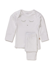 sleeping cutie 2 piece set - WHITE/GREY