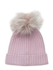 cashmere hat - PINK/ FUR